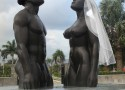 Redemption Song Statue in Kingston, Jamaica