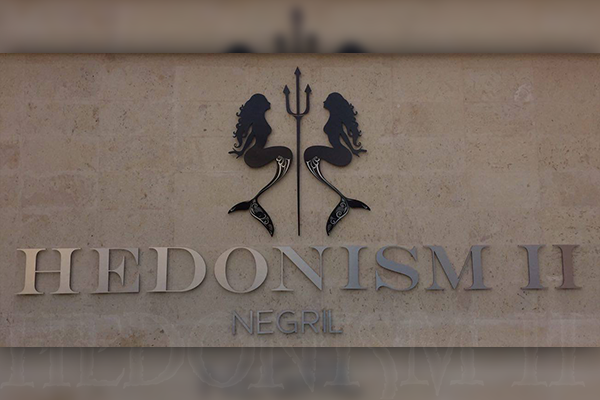 Hedonism's new mermaid and trident logo
