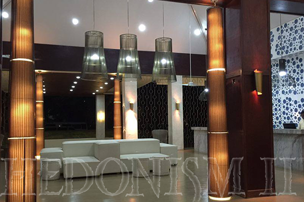 The newly renovated lobby at Hedo II