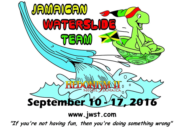 Jamaican Waterslide team
