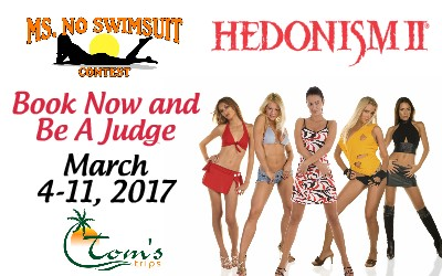 No Swimsuit contest Hedonism