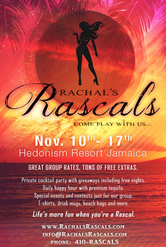 Rachels Rascals Events - Hedonism II